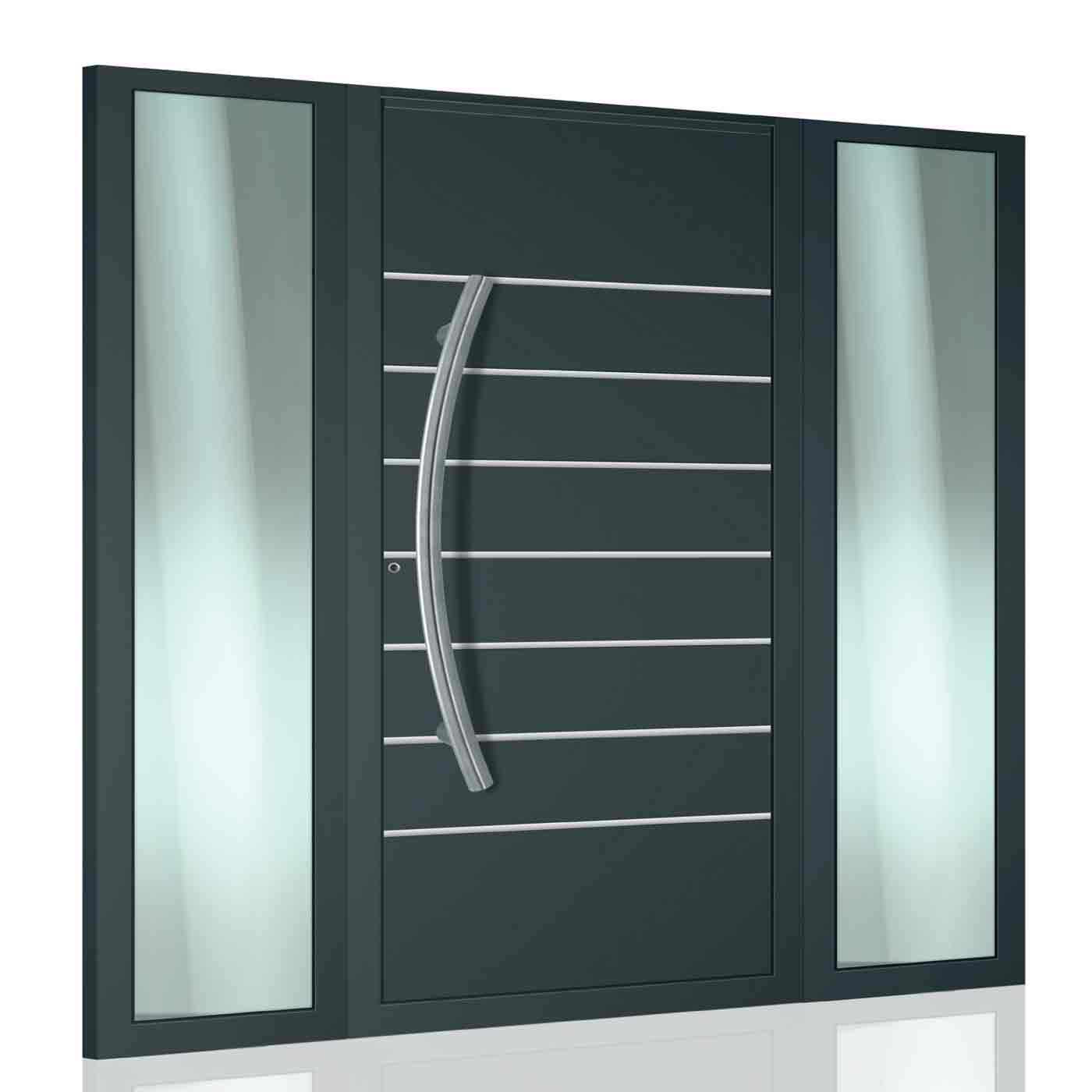EDOOR soluzione ideale in alluminio per un ingresso di casa all'americana