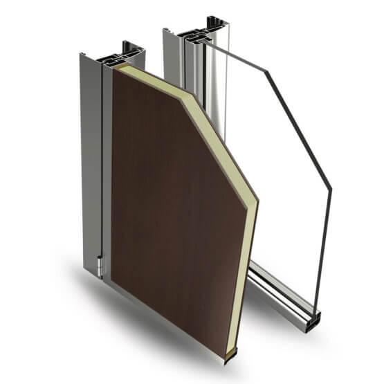 Vendita profilati alluminio legno Easy Door Alsistem