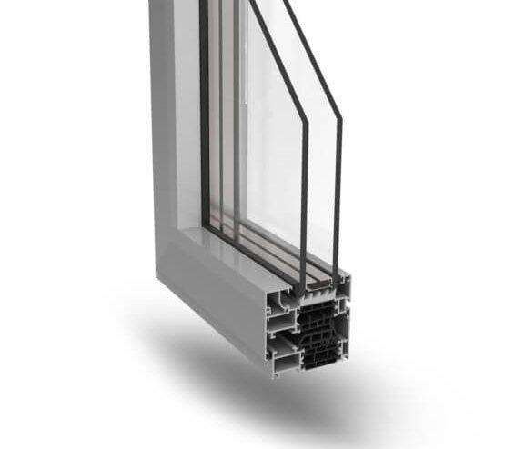 Profilati alluminio infissi Ecoslim 72 TT Alsistem
