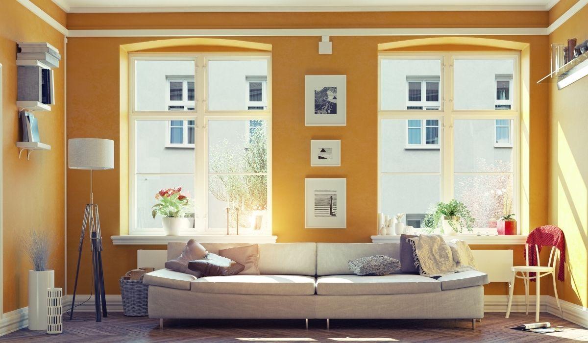 finestra con le tende incorporate all'interno del vetro, lemento di design
