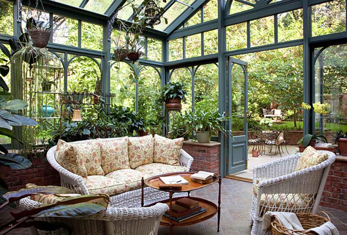 veranda giardino d'inverno in stile inglese