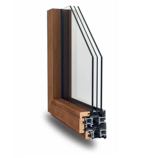Serramenti alluminio legno Nathura 82 Alsistem