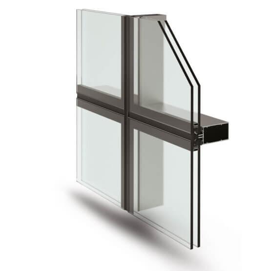 Facciate continue alluminio Sirio 50 SG Alsistem