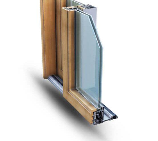 Scorrevoli alluminio TopSlide Wood 214 Alsistem