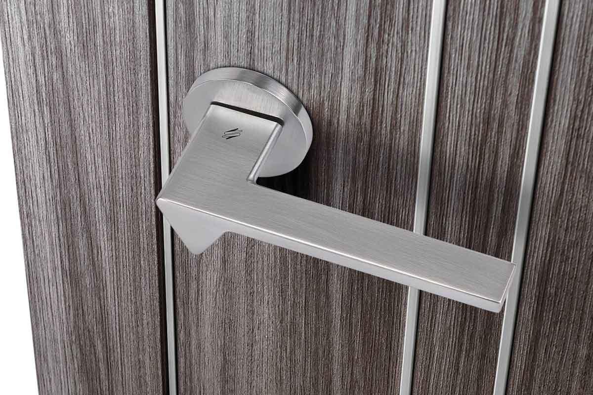 maniglia in alluminio per porte interne, linea colombo