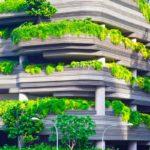 un edificio moderno realizzato secondo i principi dell'edilizia sostenibile