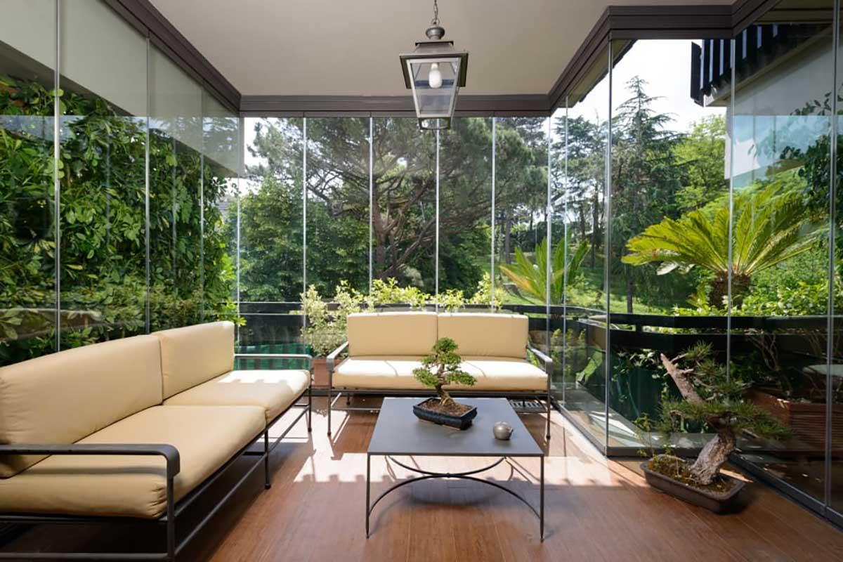 veranda moderna giardino d'inverno