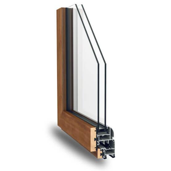 Profili alluminio legno Natura 59 Alsistem