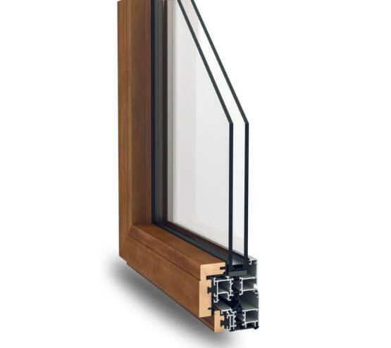 Profili alluminio legno Nathura 70 Alsistem
