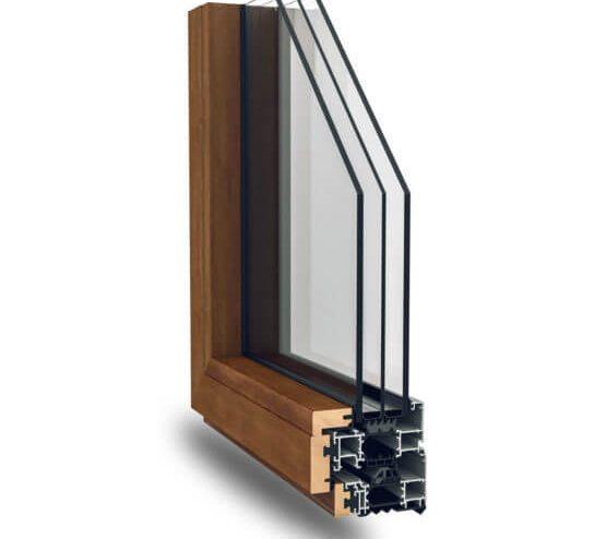 Serramenti alluminio legno Nathura 92