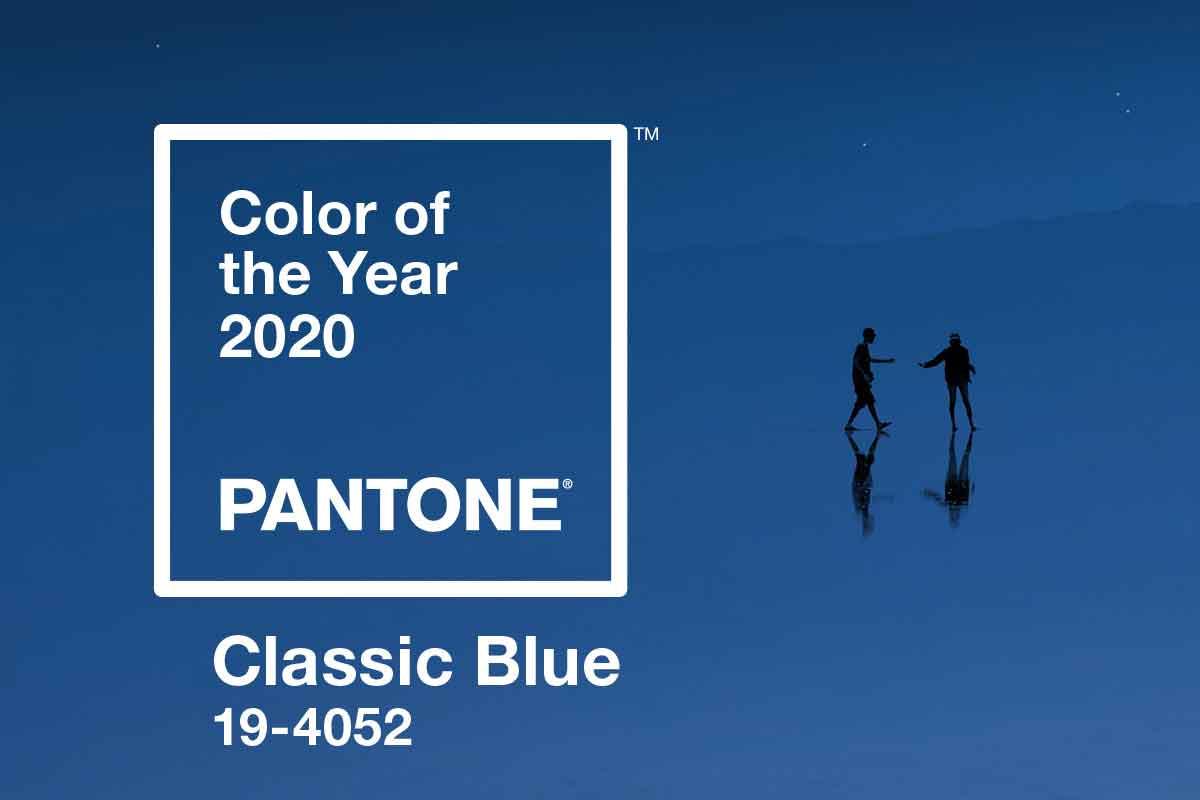 Pantoni blu colore 2020