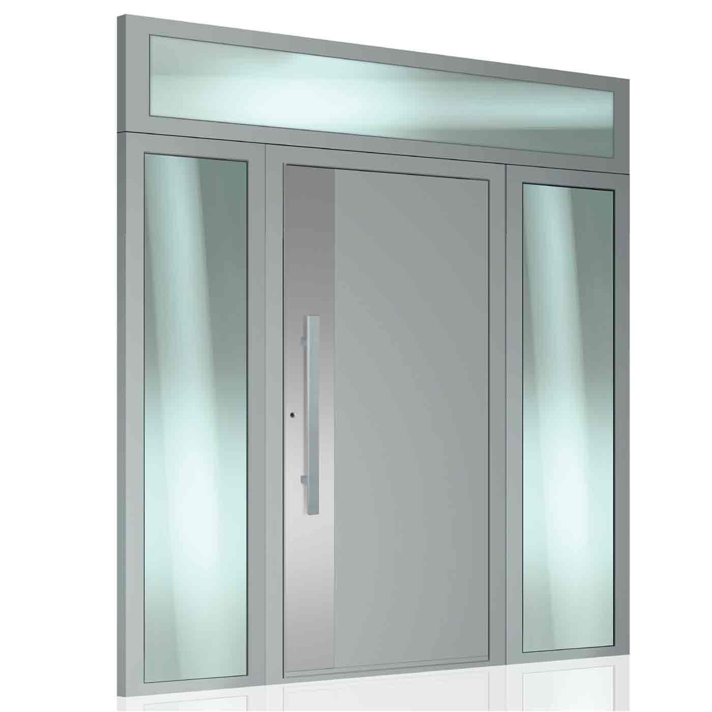 Porta d'ingresso casa americana in alluminio