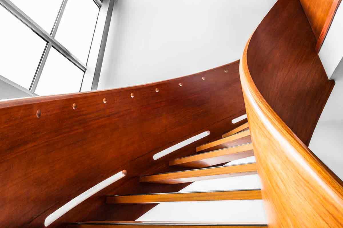 Ringhiera in alluminio finto legno