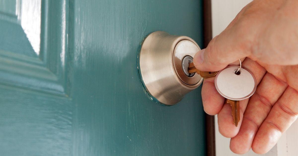 esempio di chiave con serratura europea