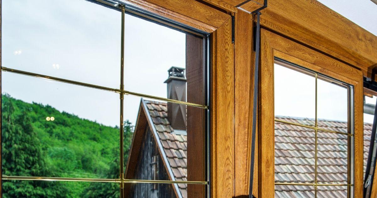 finestre con profilo in alluminio effetto legno