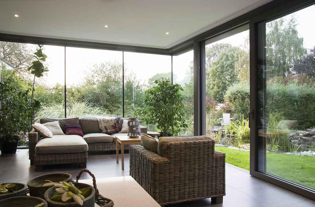 veranda d'inverno da design molto moderno